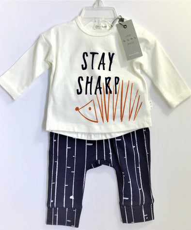 Miles Baby Navy/Cream 2Pc Pant Set