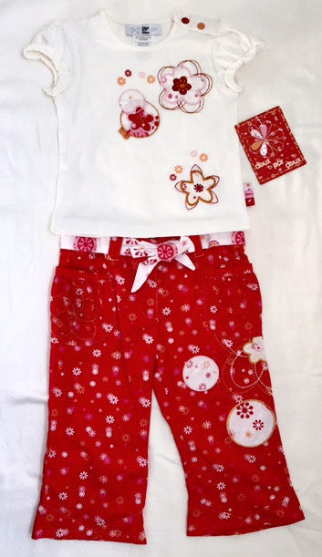 Deux Par Deux Infant/Toddler 2Pc Pant Set