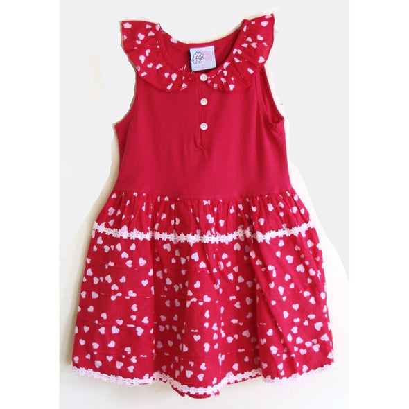 Mim Pi Girls Heart Print Dress