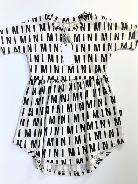 HUXBABY  Blk/Wht MINI MINI Waisted 100% Organic Cotton Dress