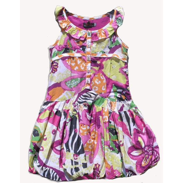 Catimini Girls Cotton Floral Bubble Dress