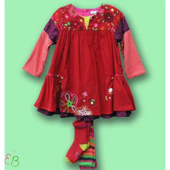 Catimini Fall/Winter Infant  2pc Dress with Footless Tights and Socks