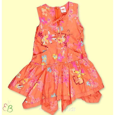 Cakewalk  Orange  Floral Dress