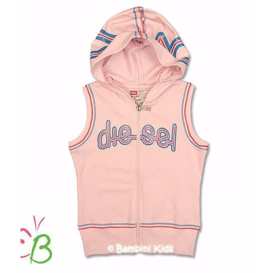 DIESEL Girls Hooded French Terry Sleeveless Sweatshirt