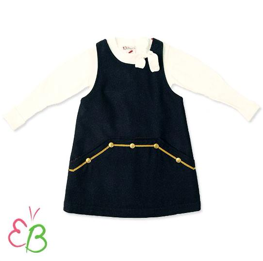 Floriane of France Fall/Winter Girls Dressy Classic Nautical Navy 2pc Jumper