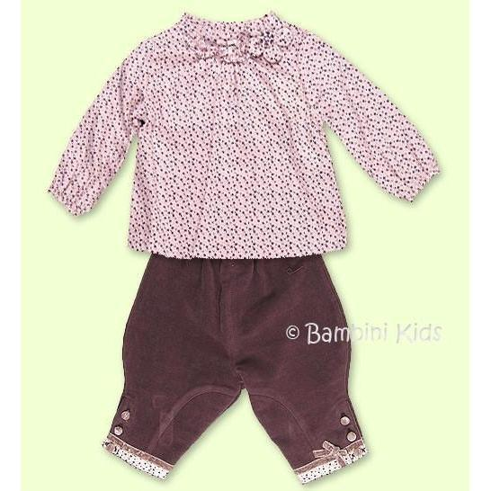 Les Bebes by Floriane of France 2pc Fall/Winter Dressy Pant Set