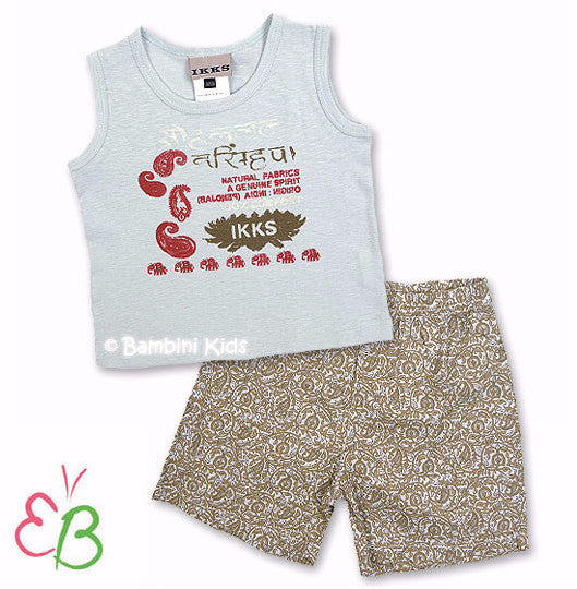 IKKS of France Infant Boys Short Set