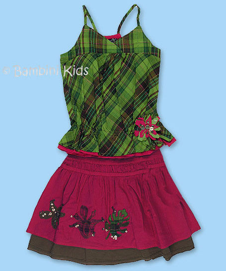 Jean Bourget of France Girls Spring/Summer 2Pc Skirt Set