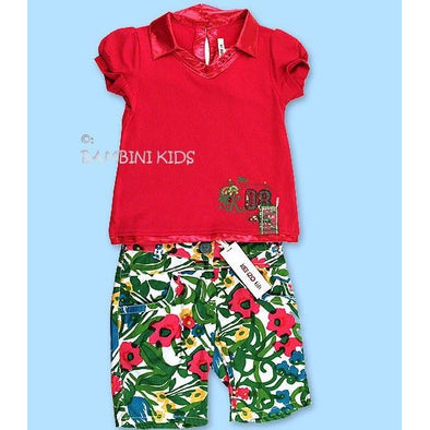 KENZO of France Girls 2pc Bermuda Short Set