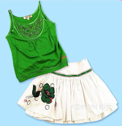 KENZO of France  Girls 2pc Cotton Skirt Set