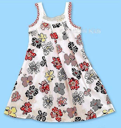 KENZO of France  Girls Very Soft 100% Cotton  Floral Sundress