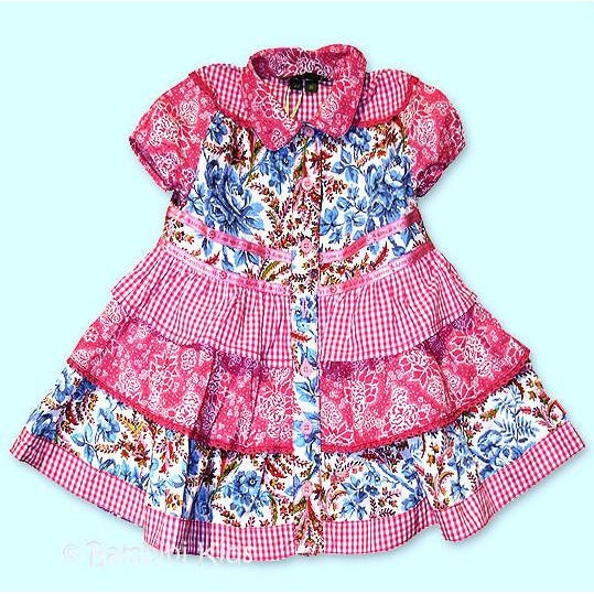 OILILY Girls Floral 3 Tier Spring/Summer Dress.