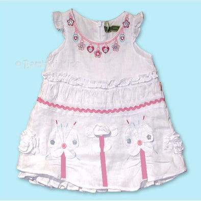 OILILY Girls 100% Linen Dress