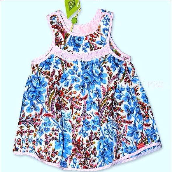 Oilily Infant Girls 100% Cotton Floral Pattern Sundress
