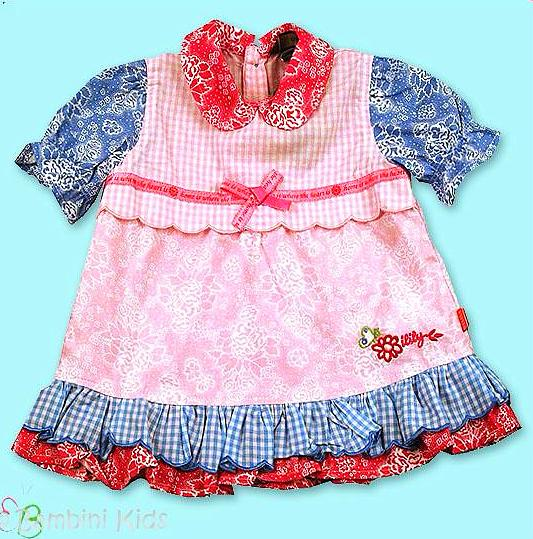 Oilily Infant Girls 100% Cotton Floral Pattern Cap Sleeve Dress