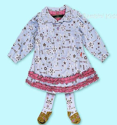 Oilily 2Pc Infant Girls Fall/Winter Fine Wail Corduroy Dress with Matching Tights