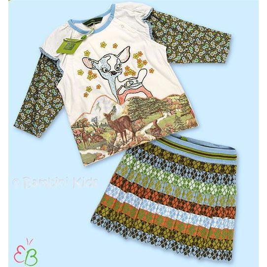 OILILY   Infant Toddler Girls Bambi 2pc Skirt Set