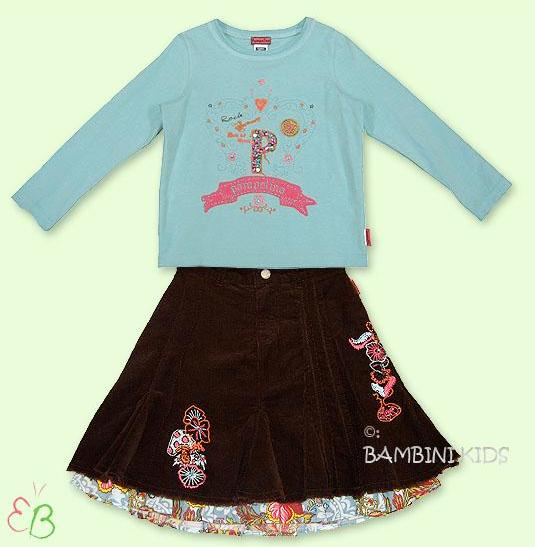 Pampolina Girls 2Pc Fall/Winter long Skirt Set
