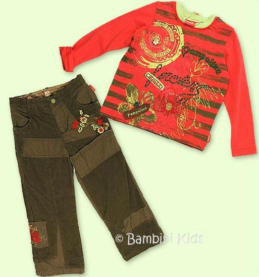 Pampolina Girls Fall/Winter 2Pc Vintage Pant Set