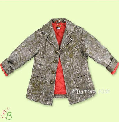 Pampolina Girls Olive/ Silver Jacket