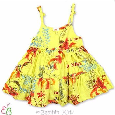 3Pommes Cotton Floral Tiered Sundress