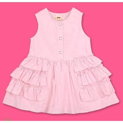 3Pommes Infant Girls Dress with Ruffles