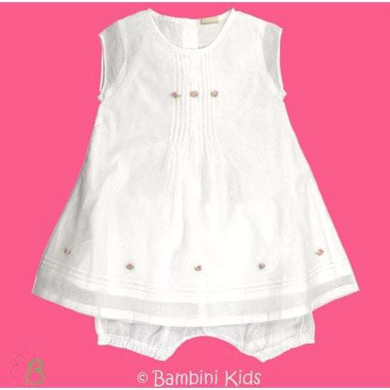 3Pommes Infant Girls 2 Pc Dress with Bloomer