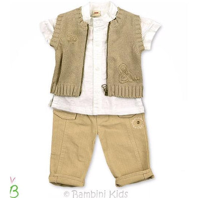3Pommes Infant Boys 3Pc Dressy Pant Set