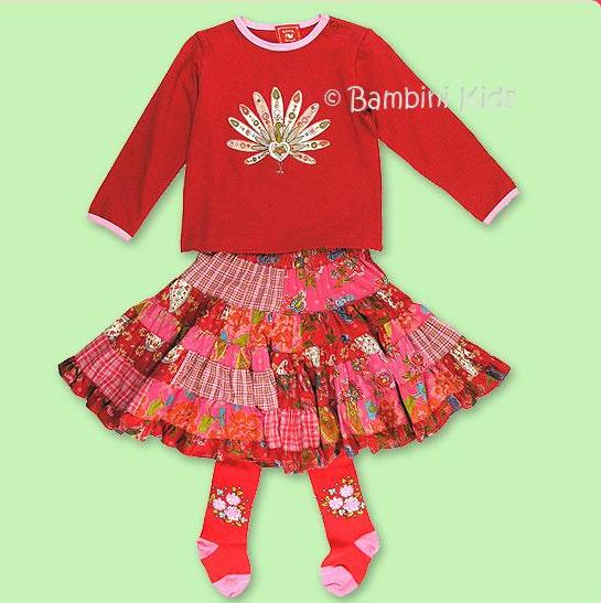 ROOM SEVEN Girls 3Pc Fall/Winter Skirt Set and Tights