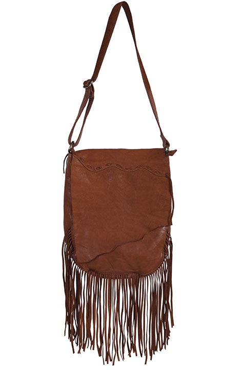 Scully B180 Western Soft Leather Handbag with fringe