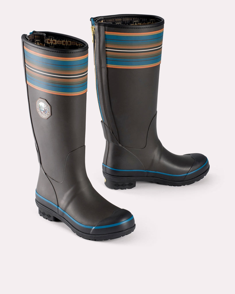 Pendleton Tall Rain Boots in Olympic Grey