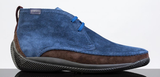 Lo. White Mens Dress Sneaker In Navy / Brown Suede Leather28030 FW19 - Saratoga Saddlery & International Boutiques