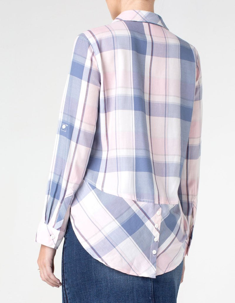 Liverpool Plaid LS Button Front & Back Shirt LM8048 - Saratoga Saddlery & International Boutiques