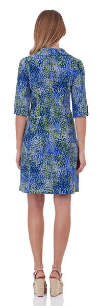 Jude Connally Michelle Dress in Painted Snakeskin Soft Blue
