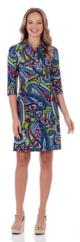 Jude Connally Michelle Dress in Trellis Trio Navy