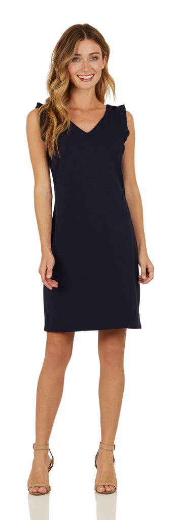 Jude Connally Womens Lulu Ponte Dress in Navy - Saratoga Saddlery & International Boutiques