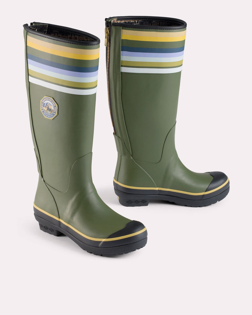 Pendleton National Park Tall Rain Boot in Rocky Mountain Olive - Saratoga Saddlery & International Boutiques