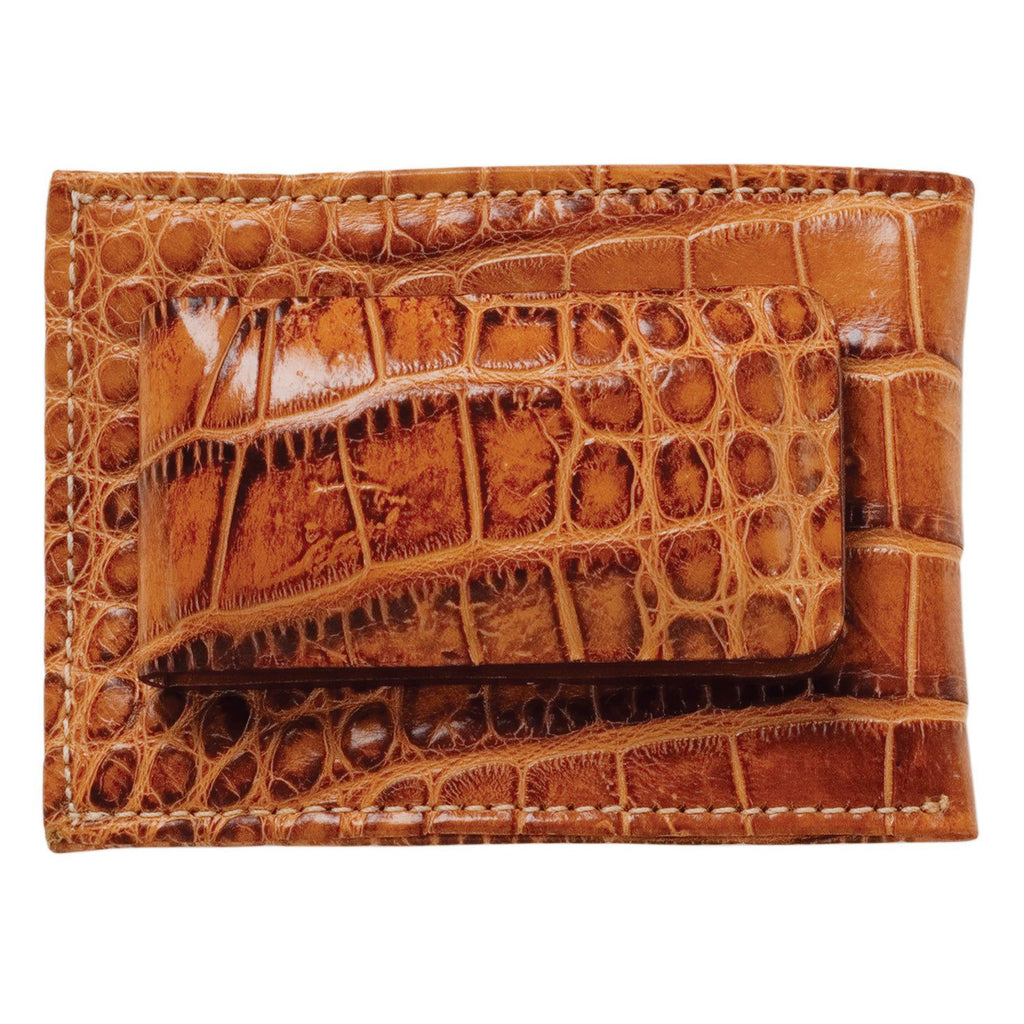 Moore & Giles Alligator Magnetic Money Clip Wallet - Saratoga Saddlery