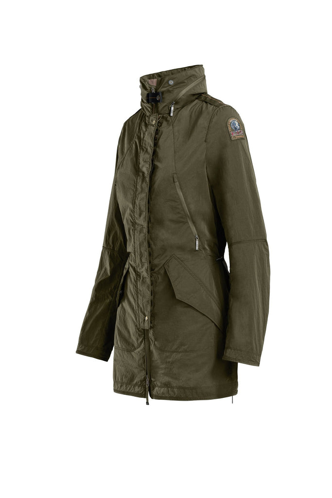 Parajumpers Women's Hellas Windbreaker in Army - Saratoga Saddlery & International Boutiques