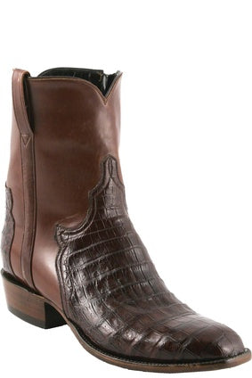 Lucchese Classic Men's Brown Ultra Belly Crocodile and Calf Boot F5058
