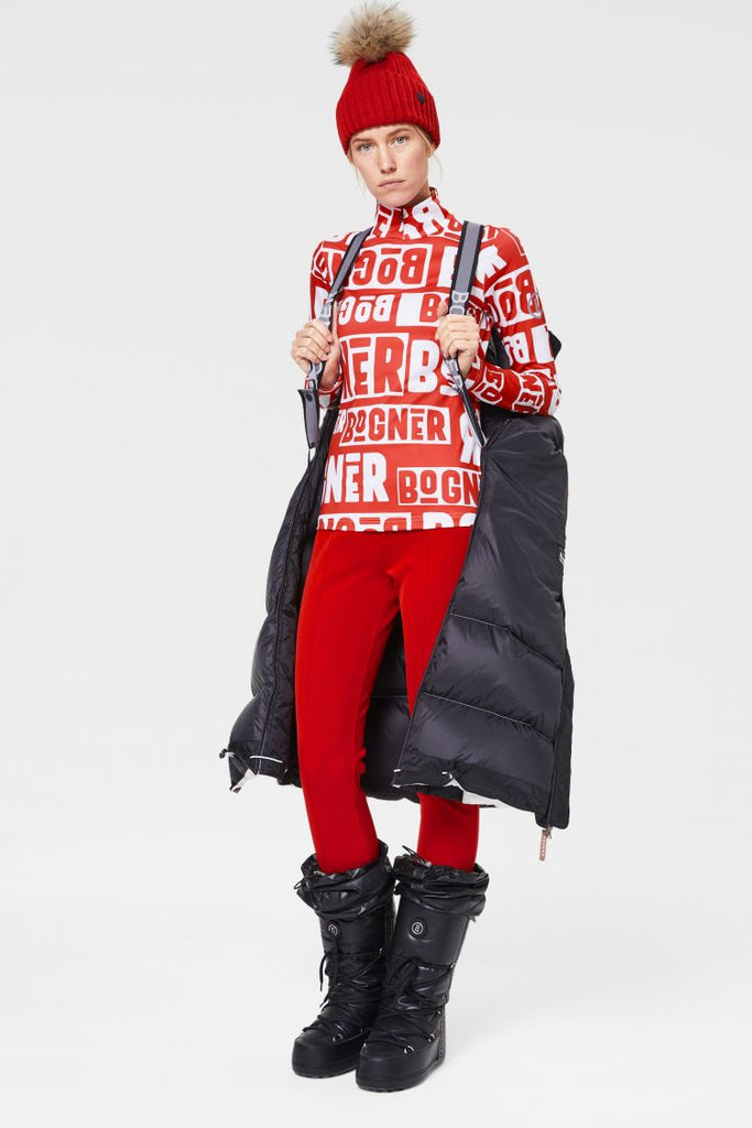 Bogner Beline Womens Red Ski Layer Top Ski Fashion Pure - Saratoga Saddlery & International Boutiques