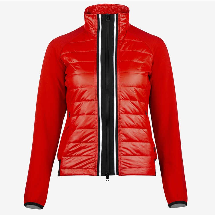Horze Robyn Womens Combo Jacket in Red 33463 - Saratoga Saddlery & International Boutiques