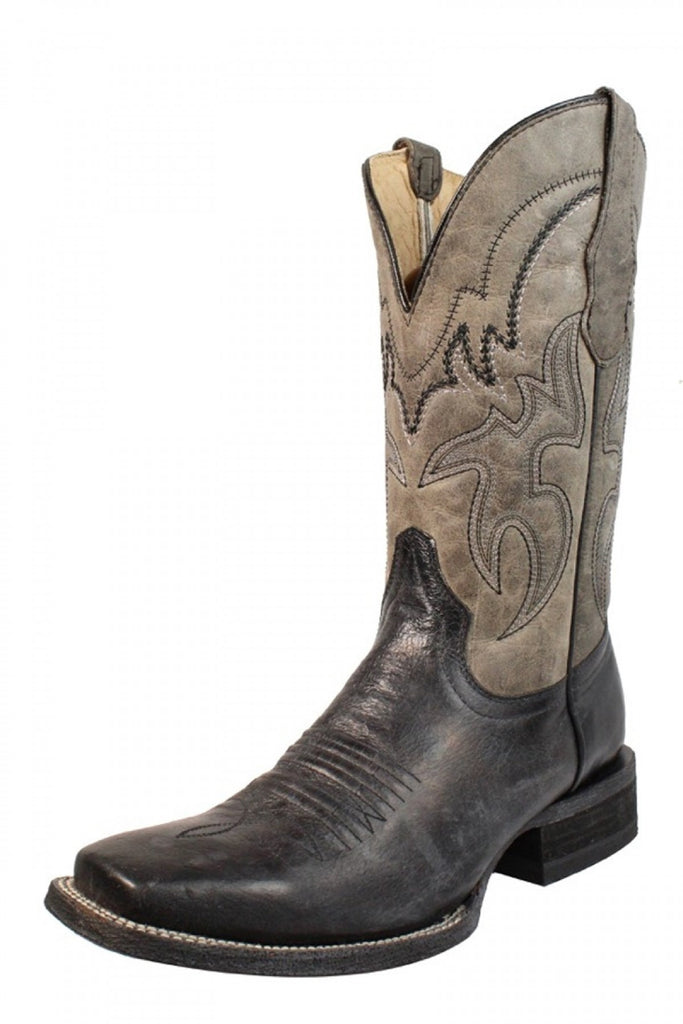 Circle G Men's Black and Grey Embroidered Boot L5179