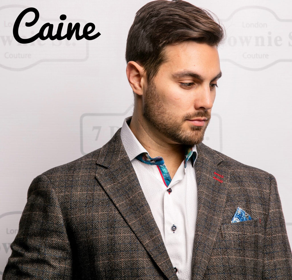 7 Downie St. Caine Men's Plaid Blazer Sports Jacket In Plaid - Saratoga Saddlery & International Boutiques