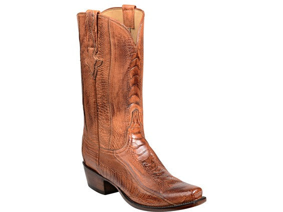 Lucchese Men's Anderson Ostrich Legs Boot GY1026 - Brandy