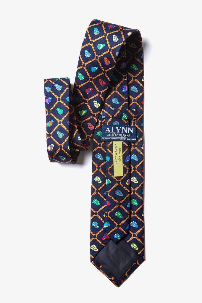 Alynn Men's Silk Tie - Bits and Caps Multi