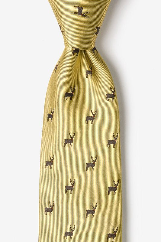 Alynn Mens Silk Holiday Tie Gold Noses Are Red Violets Are Blue FW19 AL-30-14-07 - Saratoga Saddlery & International Boutiques