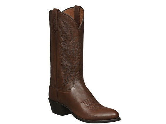 Lucchese Men's Carson Calf Leather boot in Antique Brown M1022