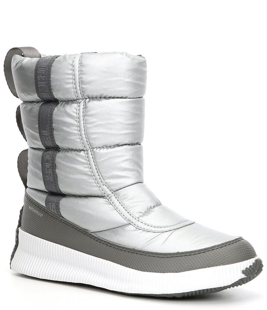 Sorel Out N About Puffy Mid Boot Pure Silver - Saratoga Saddlery & International Boutiques