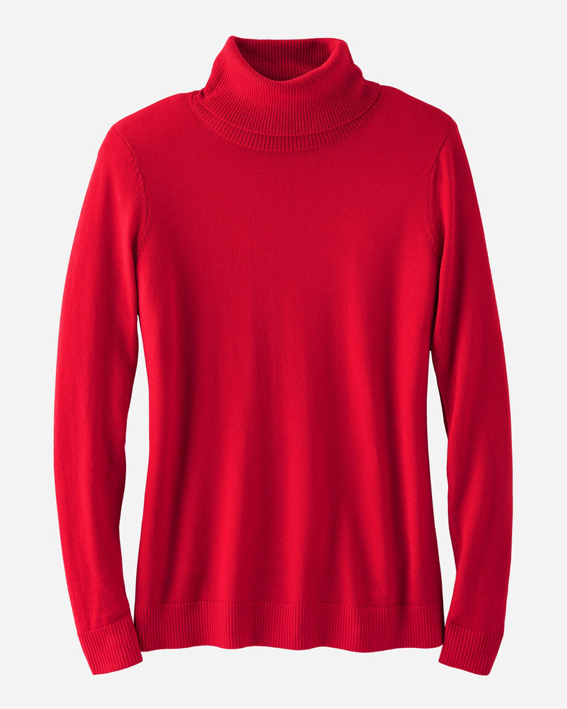 Womens red turtleneck